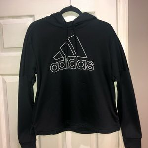 adidas Climawarm black hooded sweatshirt size L
